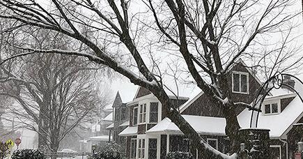 フィラデルフィアで雪