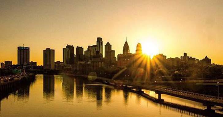 フィラデルフィアの初日の出
