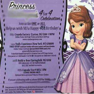誕生日会の招待状