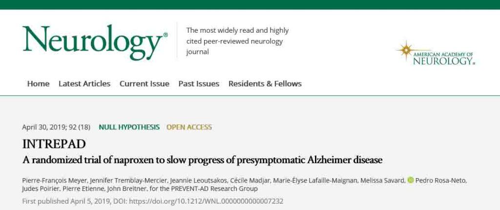 NSAIDsのアルツハイマー病の治験中止:INTERPAD