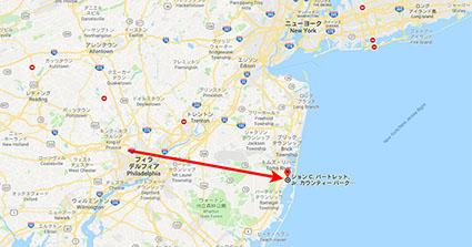 JCBC Parkまでの地図