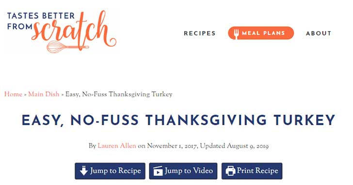 Roast Turkey レシピ 1