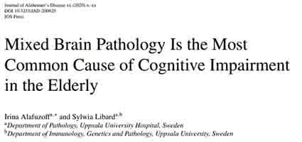 認知機能低下の一番の要因は混合病理
