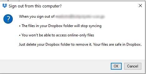 Dropbox cannot move