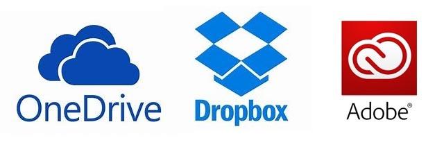 OneDrive,Dropbox,CC