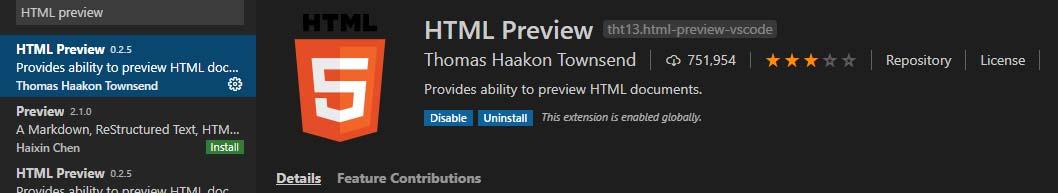 VSCode-HTML Preview